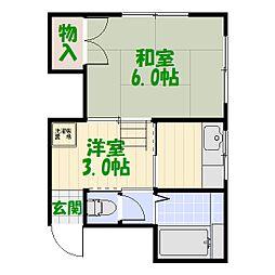 東京都足立区綾瀬2丁目の賃貸マンションの間取り