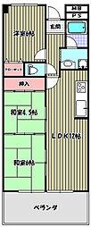 ギャレ金剛[2階]の間取り