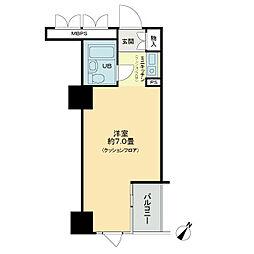 ライオンズマンション関内第5[505号室]の間取り