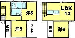 [一戸建] 滋賀県彦根市岡町 の賃貸【/】の間取り