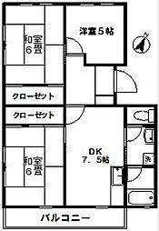 東高根ハイツ永井[203号室]の間取り