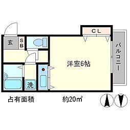 熊野道谷口マンション[3階]の間取り