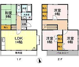 [テラスハウス] 徳島県徳島市八万町上福万 の賃貸【徳島県 / 徳島市】の間取り