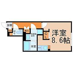 愛知県名古屋市千種区大久手町5丁目の賃貸マンションの間取り