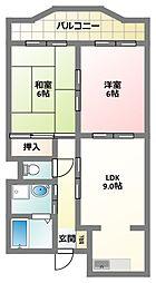 大阪府四條畷市砂2丁目の賃貸マンションの間取り