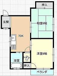 五十川ビル[3階]の間取り