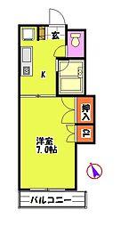 ルネ2番館[1階]の間取り