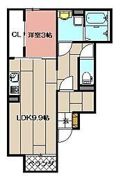 レオーネ39[102号室]の間取り