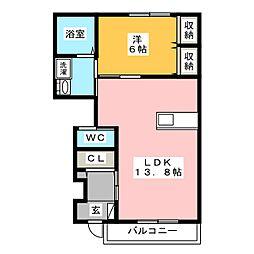 クレアII[1階]の間取り