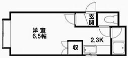 フォレストヒルズ東札幌[205号室]の間取り