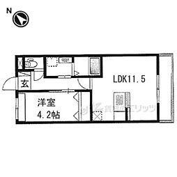 仮)京都市右京区西院西田町新築マンション 3階1LDKの間取り