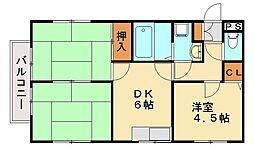 ベルハウス自由ヶ丘 II[1階]の間取り
