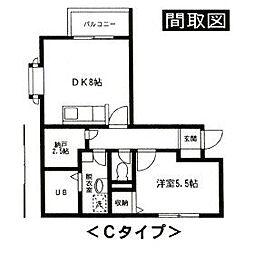 ジュネスSK B3階Fの間取り画像