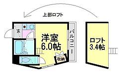 プチグレイス塚口本町壱番館[1階]の間取り