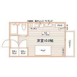 (仮称)植田東学生マンション[101号室]の間取り