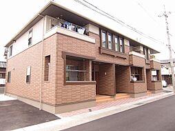 徳島県板野郡北島町江尻字山王宮の賃貸アパートの外観