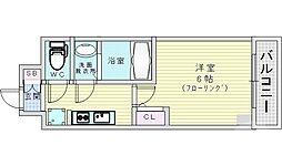 JR片町線(学研都市線) 鴫野駅 徒歩1分の賃貸マンション 2階1Kの間取り