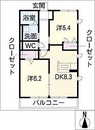 レトア覚王山B[1階]の間取り