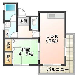 グッドリバー2番館[3階]の間取り