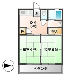 第1沢の井ビル[5階]の間取り
