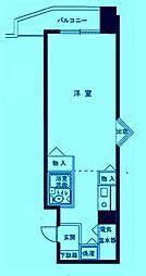 エヴェナール二子新地[9階]の間取り