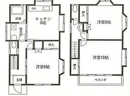 [一戸建] 神奈川県大和市南林間9丁目 の賃貸【/】の間取り