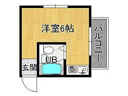 JPアパートメント生野[2階]の間取り