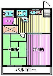 遠藤アパート[202号室]の間取り