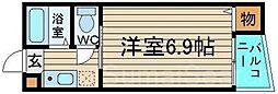 ミドウスジ堺II[2階]の間取り