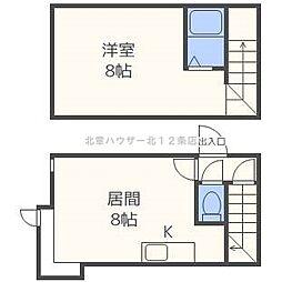 ステージN22[2階]の間取り