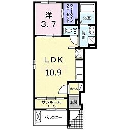 東京都杉並区下高井戸1丁目の賃貸アパートの間取り