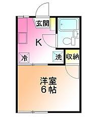 メゾンオギハラ[1階]の間取り