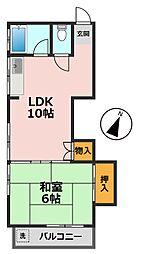 東京都江戸川区西小岩1丁目の賃貸アパートの間取り