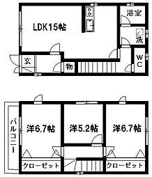 [一戸建] 静岡県浜松市中区砂山町 の賃貸【/】の間取り