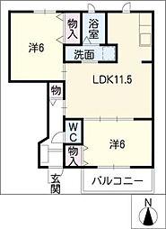 POLARIS−OM[1階]の間取り