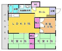 ハイツ須賀A棟[102号室]の間取り
