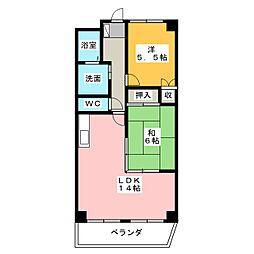 トーシンボヌール瑞穂[2階]の間取り
