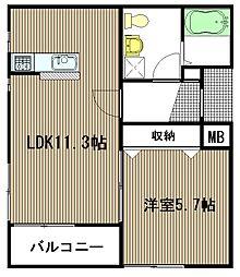 AIコート東広島[202号室]の間取り