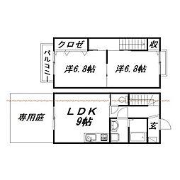 [一戸建] 静岡県浜松市東区和田町 の賃貸【/】の間取り