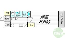 PHOENIX新大阪 5階1Kの間取り