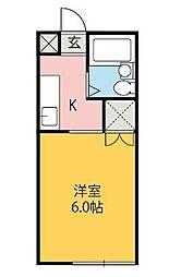 アリス伊勢崎第2[1階]の間取り
