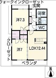 シルキーハウス[3階]の間取り