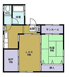 福楽ビル[4階]の間取り