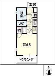 ハーモニアス白鳥[3階]の間取り