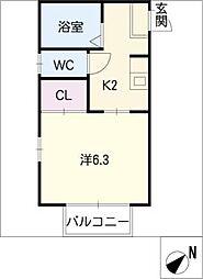 ウッディメゾンS[1階]の間取り