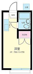 東京都渋谷区本町2丁目の賃貸アパートの間取り