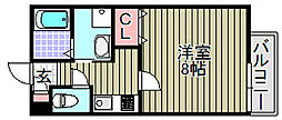 (仮称)泉大津市我孫子学生マン[203号室]の間取り