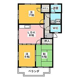 デージー生山 B棟[1階]の間取り