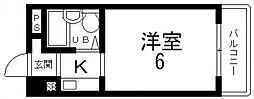ハイツ八戸ノ里[211号室号室]の間取り
