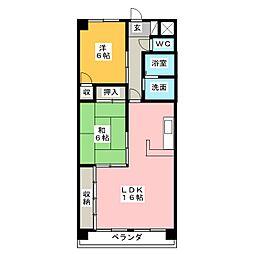 サンライズ伊東 弐番館[2階]の間取り